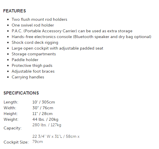 features and specs