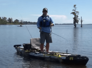 standup kayak fish