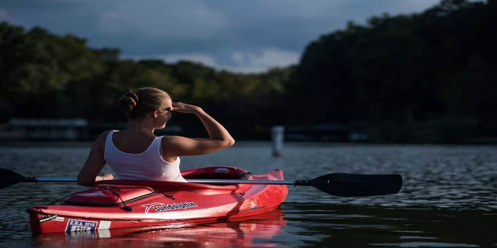 woman on kayak
