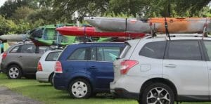 cars with kayaks on roof racks